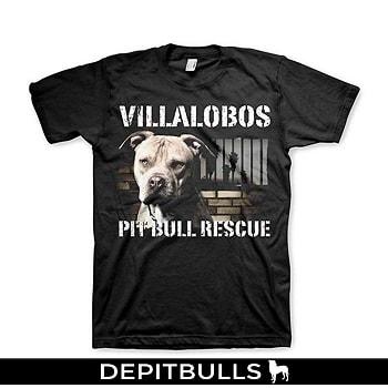 Camisetas Color Negro con estampado de imagen de PitBulls a la moda para hombre.