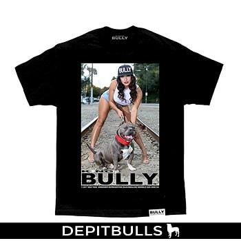 CAMISA ESTAMPADA CON IMAGEN DE PITBULL Camiseta a la moda de American Bully PitBull, mascota pitbull bully color blanco y gris