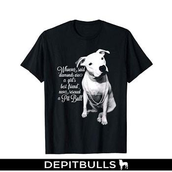 Pit Bull camisetas CAMISA ESTAMPADA CON IMAGEN DE PITBULL Camiseta de rescate de PitBulls puppy color blanco