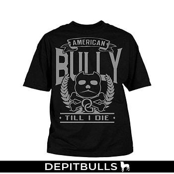 CAMISETAS PARA HOMBRE ESTAMPADAS CON IMAGEN DE PITBULLS A LA MODA Camisa con letras pitbull bully american till i die