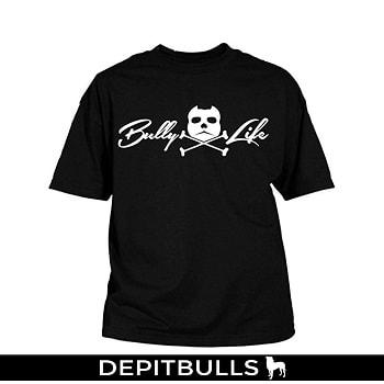 CAMISETAS PARA HOMBRE ESTAMPADAS CON IMAGEN DE PITBULLS A LA MODA Camisa con letras pitbull bully life