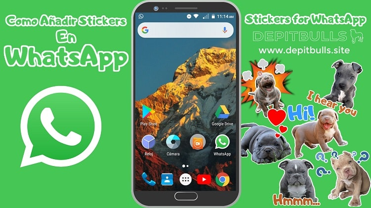 COMO AÑADIR STICKERS EN WHATSAPP DEPITBULLS PERSONALIZADOS TUTORIAL COMPLETO COMO PONER stickers for whatsapp DEPITBULLS