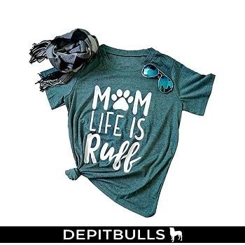 Camiseta de manga corta para mujer, diseño de perro pitbull