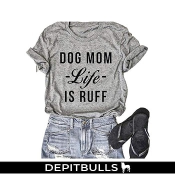 Camiseta manga corta a la moda para mujer, ideal para amantes de perros pitbulls