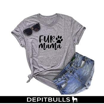 Camisa Casual mangas cortas para las amantes de los pitbull