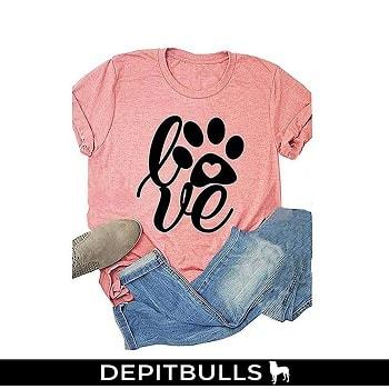 Camiseta de manga corta para mujer, camisa de moda pitbulls