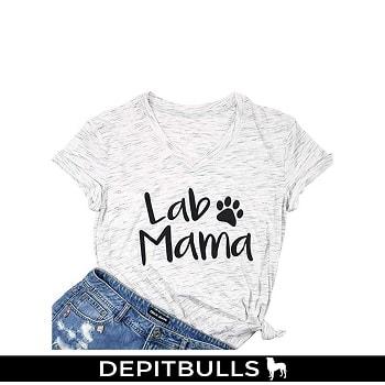 Camiseta manga corta para mujer, cuello en V, diseño de letras de huella pitbull