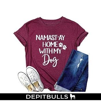 Manga corta camisetas para amante del perro pitbulls