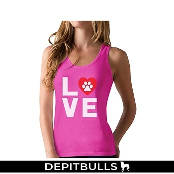 Camisa escotada Love Dogs My Best Friend Racerback Tank Top