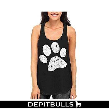 Camisa de moda para mujer huella de perro ropa