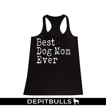 Camisa de tirantes para los amantes de los perros pitbulls