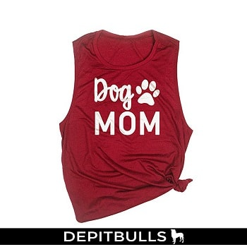 Camiseta de tirantes para mujer, sin mangas, diseño de perro, con texto
