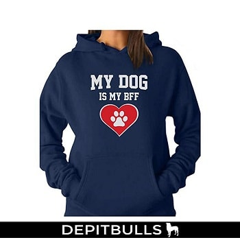 My Dog is My BFF - Gift for Dog Lovers Women Hoodie