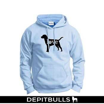 Sudadera Love Dog Paw Prints Hoodie Sweatshirt